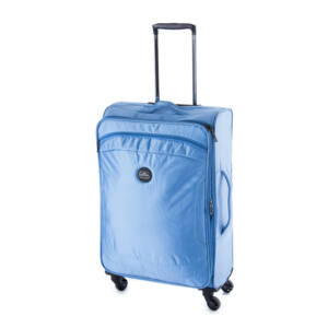 kék közepes bőrönd