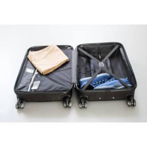 New Carat Közepes bőrönd gold brushed