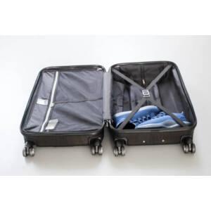 New Carat Szett bőrönd burgundy brushed