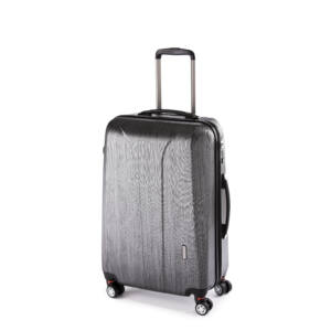 fekete közepes bőrönd