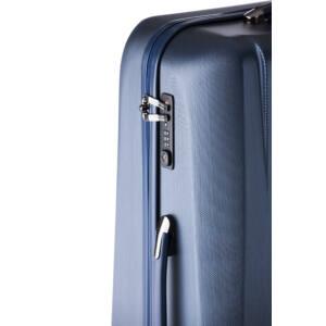 New Carat Közepes bőrönd navy brushed