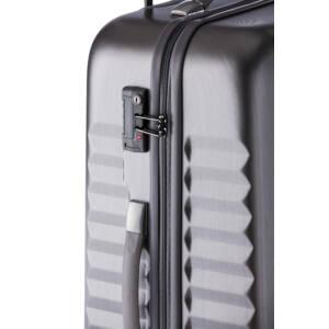 Ribbon Közepes bőrönd silver brushed