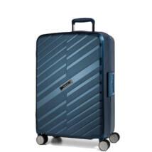 Bon Voyage Törhetetlen (cipzár nélküli) Közepes Bőrönd Kék