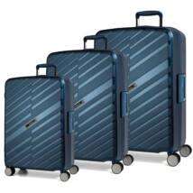 Bon Voyage Törhetetlen (cipzár nélküli) Szett Bőrönd Kék