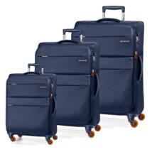 Elle Bővíthető Könnyű Bőrönd Szett Kék