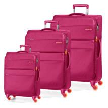 Elle Bővíthető Könnyű Bőrönd Szett Pink