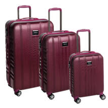 Fly Szett bőrönd burgundy brushed