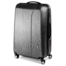 New Carat Nagy bőrönd black brushed