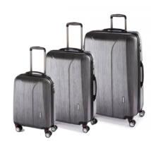 New Carat Szett bőrönd black brushed