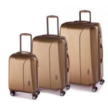 New Carat Szett bőrönd gold brushed