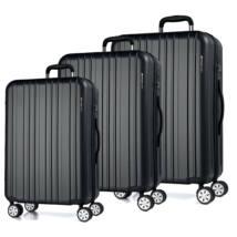 Omega Szett Bőrönd Fekete
