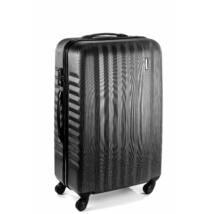 Ribbon Közepes bőrönd black brushed