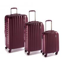 Ribbon Szett bőrönd burgundy brushed
