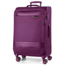Tourer Vászon Bőrönd Nagy Padlizsán