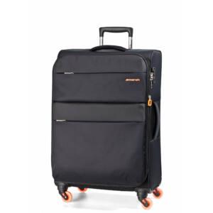 Elle Bővíthető Könnyű Bőrönd Közepes Fekete