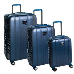 Fly Szett bőrönd navy brushed