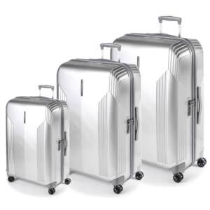 New Manhattan Ezüst bőrönd szett