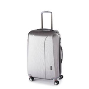 New Carat Közepes bőrönd silver brushed