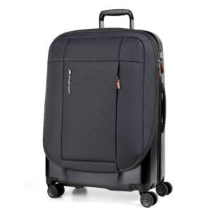 Phaeton Hybrid nagy bőrönd fekete