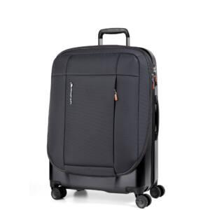 Phaeton Hybrid közepes bőrönd fekete