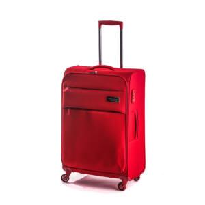 Polo közepes bőrönd piros
