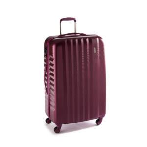 Ribbon Nagy bőrönd burgundy brushed