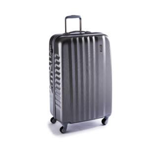 Ribbon Nagy bőrönd silver brushed