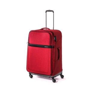 Rugby Közepes bőrönd piros (bővíthető)
