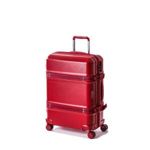 Trunk bőrönd piros közepes