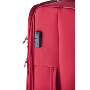 Carter Spec E. Közepes bőrönd piros