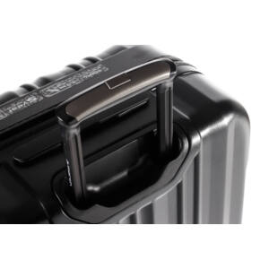 Cosmopolitan Közepes bőrönd Black Alu