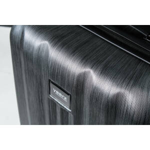 Fly Közepes bőrönd black brushed