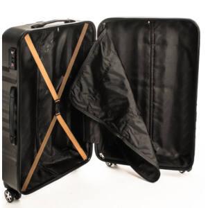 Nagy bronze bőrönd belső
