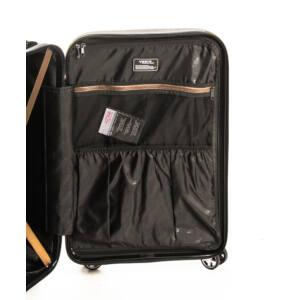Közepes bronze bőrönd belső