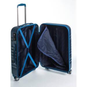 Fly Közepes kék bőrönd belső
