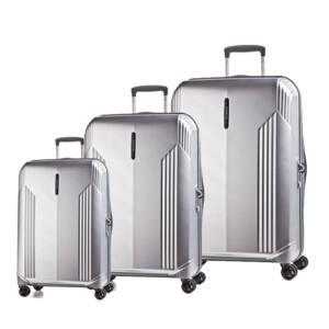 New Manhattan Ezüst bőrönd szett, csak szettben megvásárolható