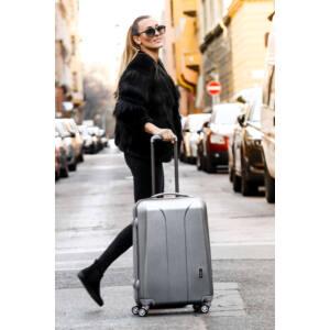 March - New Carat  Ezüst Elegáns bőrönd