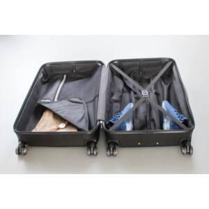 New Carat Nagy bőrönd bronze brushed