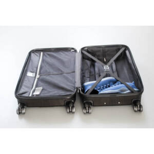 New Carat Közepes bőrönd burgundy brushed
