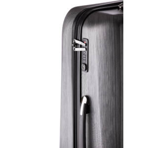 New Carat Kabin bőrönd black brushed