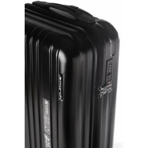 Omega Közepes Bőrönd Fekete