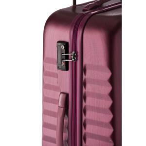 Ribbon Kabin bőrönd burgundy brushed