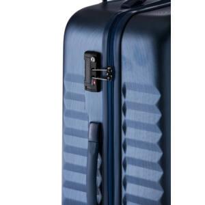 Ribbon Nagy bőrönd navy brushed