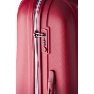 Rocky Közepes bőrönd red silver