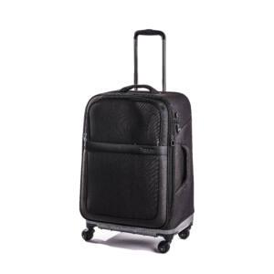 közepes bőrönd fekete