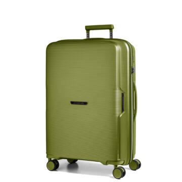 Bel Air Közepes bőrönd Zöld