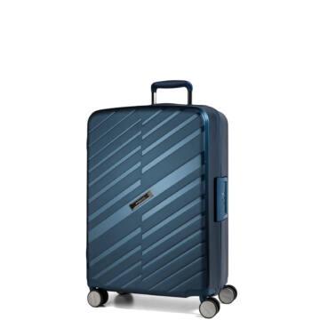 Bon Voyage Törhetetlen (cipzár nélküli) Kabin Bőrönd Kék