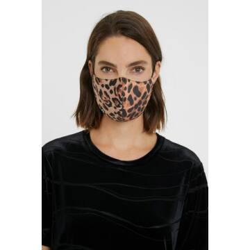 Desigual Leopard/Black Riversable Face Mask