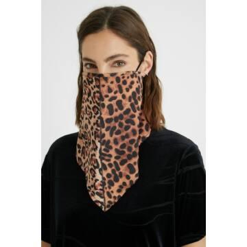 Desigual Leopard Face Mask Bandana