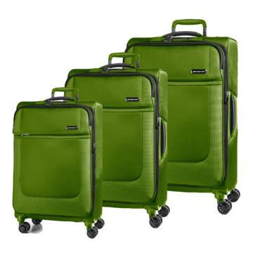 Imperial HiTech Vászon Szett Bőrönd Moha Zöld